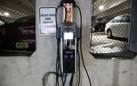 Electric Vehicle Charging Stations Installed in University Parking Garage
