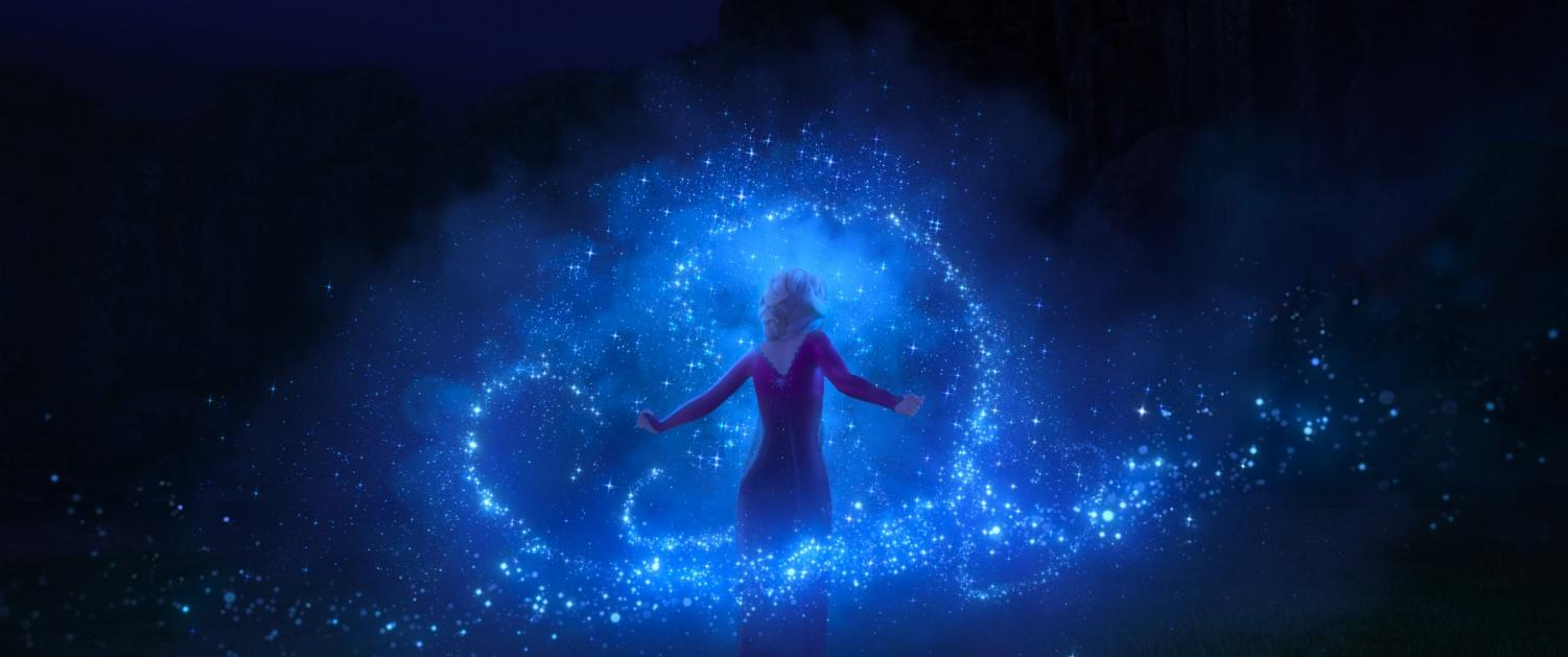 """Sisters Elsa and Anna returned to theaters on Nov. 22 with """"Frozen 2,"""" featuring new adventures and magical moments. (Courtesy of twitter)"""