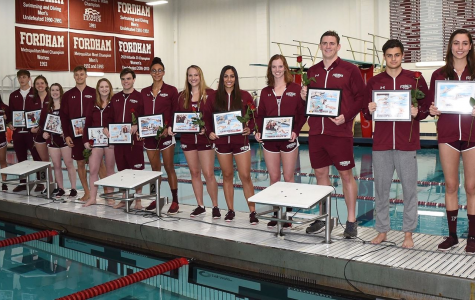 Swimming and Diving Celebrates Senior Day