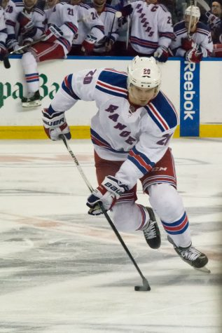 Many thought Chris Kreider (above) would be traded on Monday, but he stayed put with a contract extension. (Courtesy of Flickr)