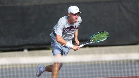 Men's Tennis Gets Close Win in Return to Rose Hill