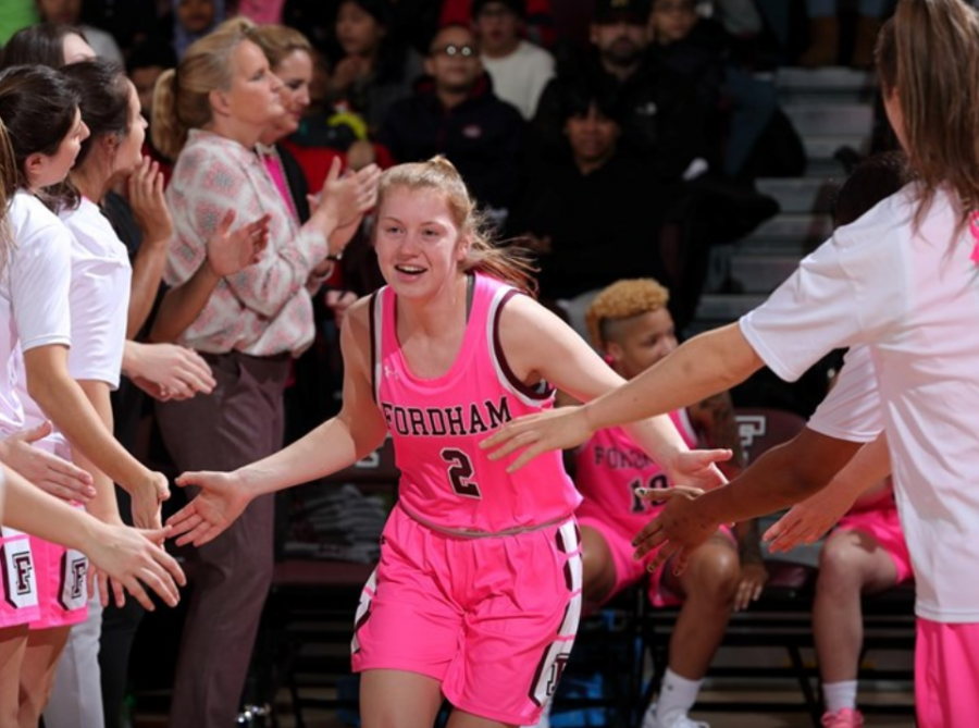 Anna+DeWolfe+%28above%29+led+Fordham+in+scoring+in+Wednesday%27s+win+over+Rhode+Island.+%28Courtesy+of+Fordham+Athletics%29