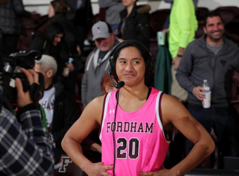 Kendell Heremaia (above) had 17 points and seven rebounds in Fordham
