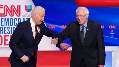 Senator Bernie Sanders faced off against frontrunner former Vice President Joe Biden. (Courtesy of Twitter)