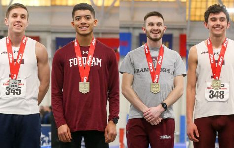 At the Atlantic 10 Championships, Fordham Track & Field took centerstage. (Courtesy of Fordham Athletics)