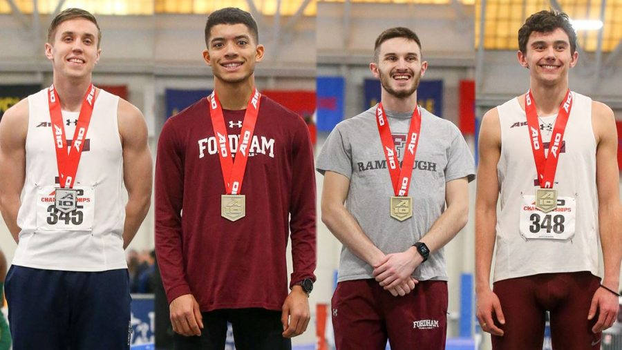 At+the+Atlantic+10+Championships%2C+Fordham+Track+%26+Field+took+centerstage.+%28Courtesy+of+Fordham+Athletics%29