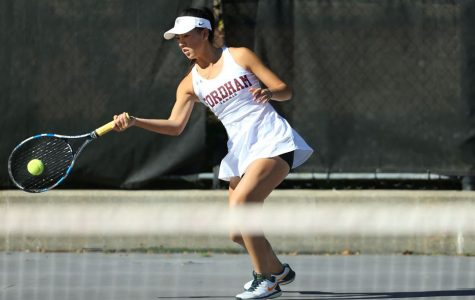 Fordham Women's Tennis had an up-and-down weekend. (Courtesy of Fordham Athletics)