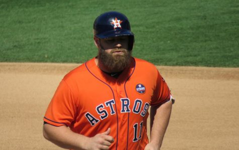 Former Astro Evan Gattis (above) has publicly shown remorse for his team's actions in 2017. (Courtesy of Flickr)