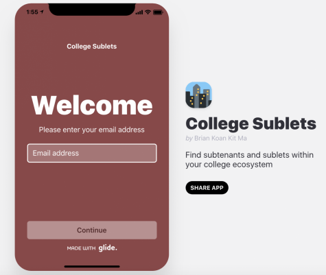 The recently-released application helps connect students with off-campus housing to people seeking housing to rent. (Jennifer Hoang / The Fordham Ram)