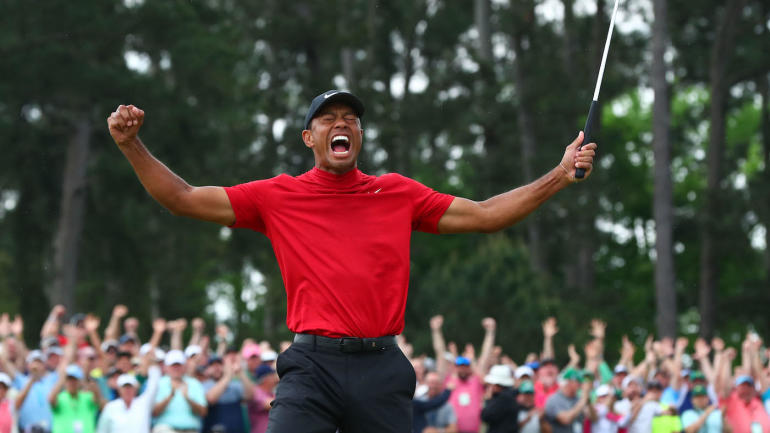 Tiger+Woods+%28above%29+won+his+most+improbable+major+yet+at+the+2019+Masters.+Fans+re-lived+it+on+Sunday.+%28Courtesy+of+Flickr%29