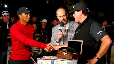 "Tiger Woods and Phil Mickelson (above) competed along with two of the greatest NFL quarterbacks ever in ""The Match II."" (Courtesy of Flickr)"