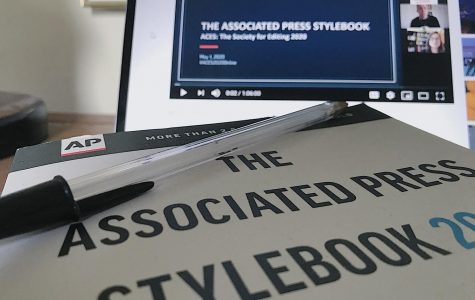 Pictured: AP Stylebook. (Maggie Rothfus/The Fordham Ram)