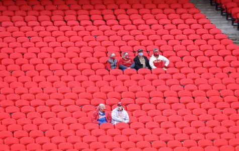 Chiefs fans socially distance as they attend the team's season opener on Thursday. (Courtesy of Twitter)