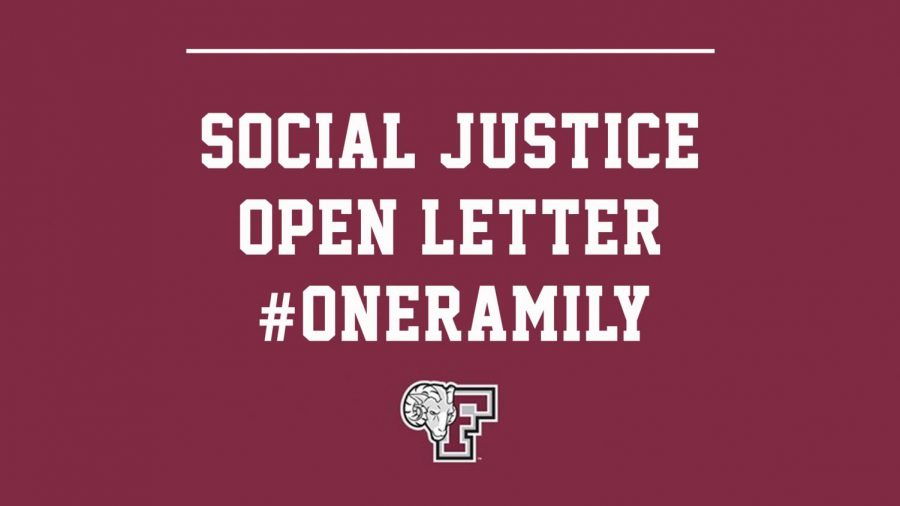 Following+months+of+social+unrest+across+the+country%2C+Fordham+Athletics+has+laid+out+its+plan+aimed+at+promoting+racial+and+social+justice.+%28Courtesy+of+Fordham+Athletics%29