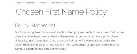 Fordham is now accomodating students and employees that go by a name different than their legal one. (Mackenzie Cranna/The Fordham Ram)