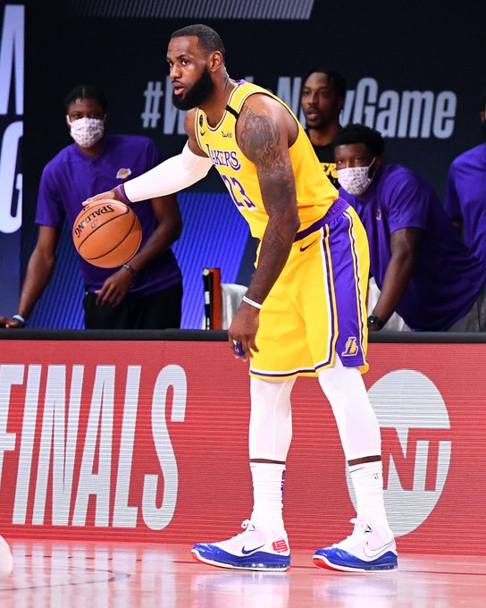 LeBron James continues to be the boss of the NBA in the bubble, with his Lakers team on the verge of the NBA Finals. (Courtesy of Twitter)