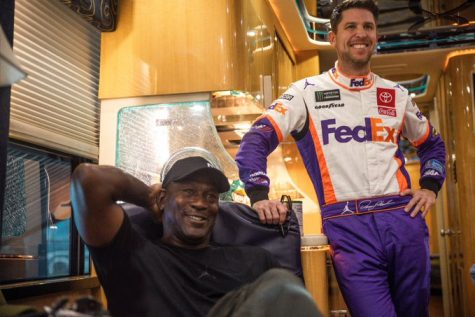 Michael Jordan, Denny Hamlin and Bubba Wallace join forces for a racing crew looking to drive NASCAR into the future. (Courtesy of Twitter)