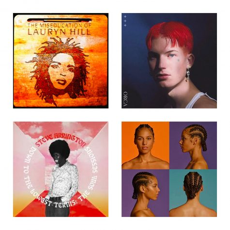 The New Music Corner features Alicia Keys, Gus Dapperton, Steve Arrington and old favorite Lauryn Hill. (Rachel Gow/The Fordham Ram)