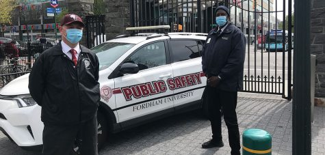 Public Safety officers now require students fill out their VitalCheck assessments in order to use their IDs to enter campus. (Courtesy of Fordham