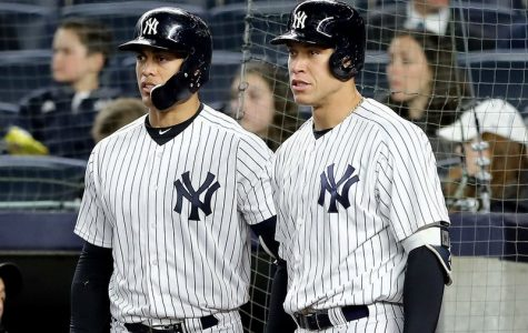 Aaron Judge and Giancarlo Stanton (above) have been injured for significant parts of the year for the Yankees. (Courtesy of Twitter)