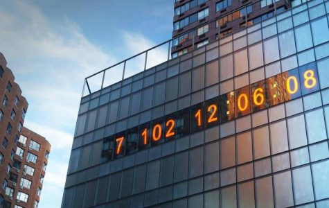 The climate clock in Union Sqaure serves as a reminder of the danger our planet is in. (Courtesy of Twitter)