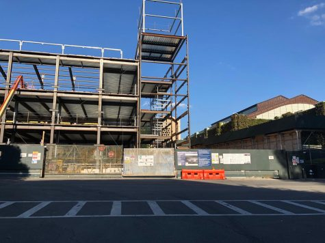 Construction continues at McGinley as the university expects phase one of the project to be completed by August 2021. (Emma Paolini/The Fordham Ram)