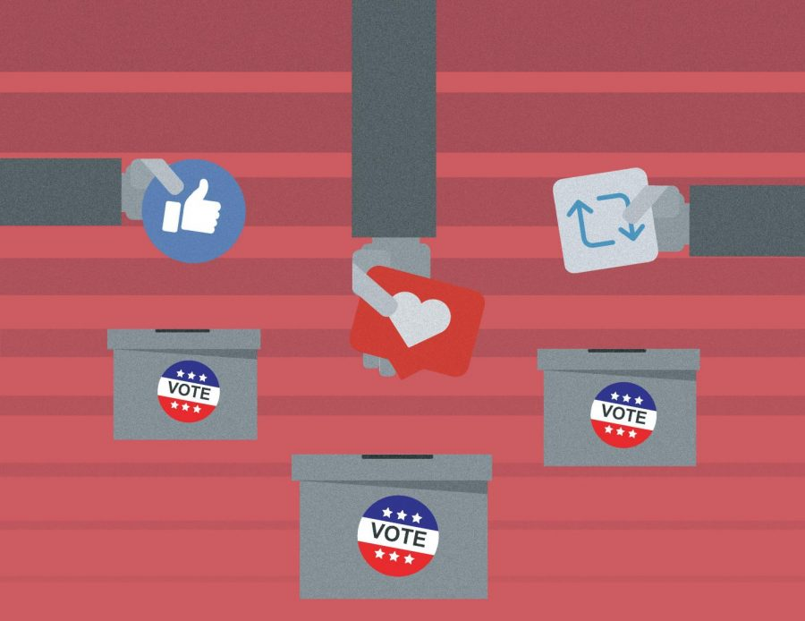 Social media has played a major role in the 2020 election (Courtesy of Pia Fischetti / The Fordham Ram).