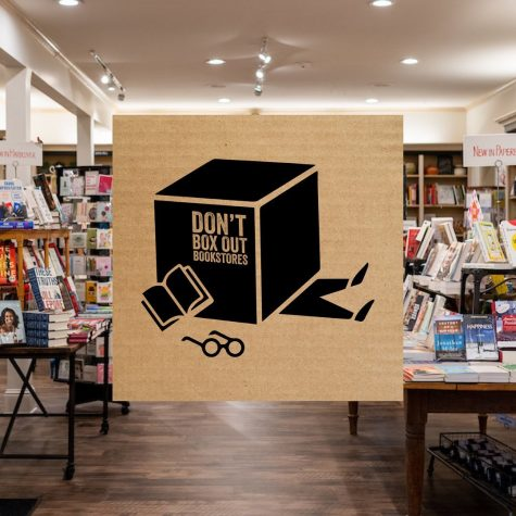 "All across the country, indie bookstores fought back against Amazon's dominance with the ""Boxed Out"" campaign. (Courtesy of Facebook)"