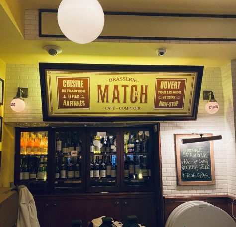 Match 65 Brasserie emmulates a Parisian café. (Alexandra Sayegh for The Fordham Ram)