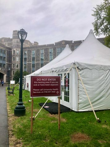 As of Tuesday, Oct. 6, Rose Hill has reported 16 cases of COVID-19 in the last 14 days. (Mackenzie Cranna/The Fordham Ram)