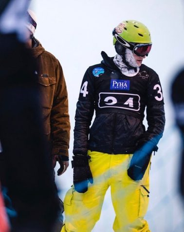 Patrick DeCrescenzo, FCRH '22, has participated in paralympic snowboarding competitions across the globe. (Courtesy of the Finnish Snowboard Association)